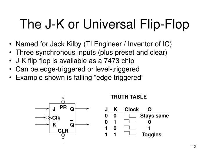 The J-K or Universal Flip-Flop