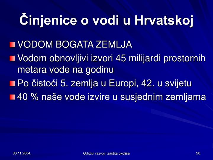 Činjenice o vodi u Hrvatskoj