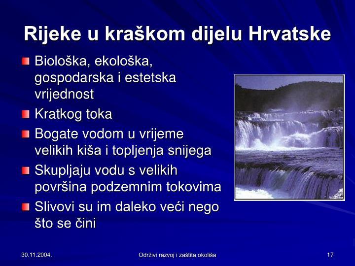 Rijeke u kraškom dijelu Hrvatske
