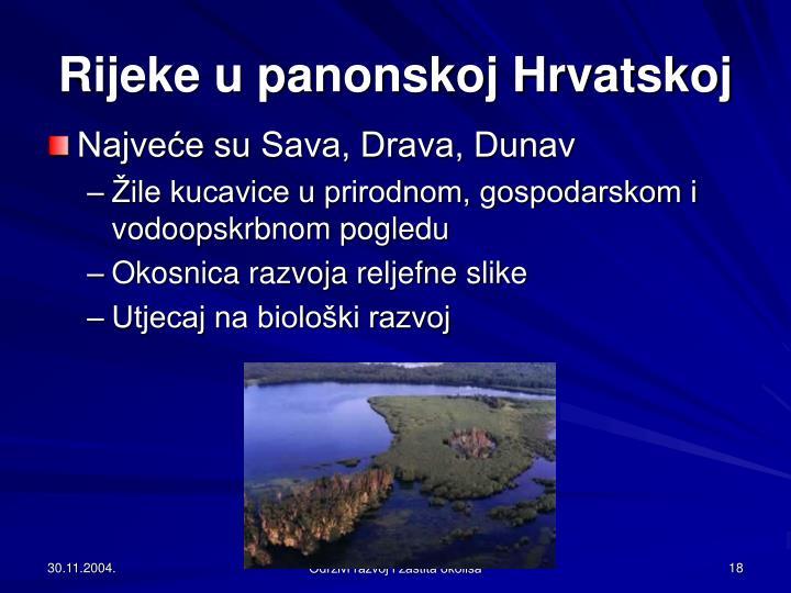 Rijeke u panonskoj Hrvatskoj