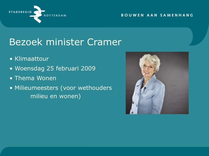 Bezoek minister Cramer