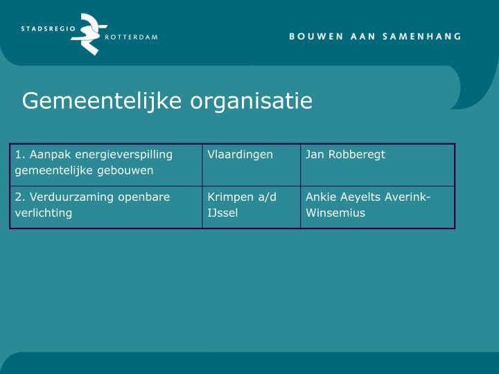Gemeentelijke organisatie