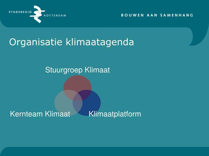 Organisatie klimaatagenda