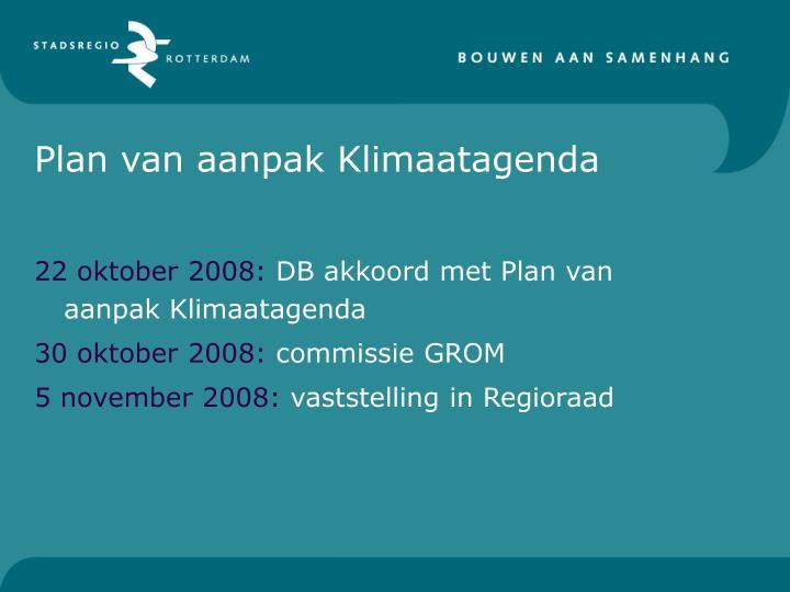 Plan van aanpak Klimaatagenda