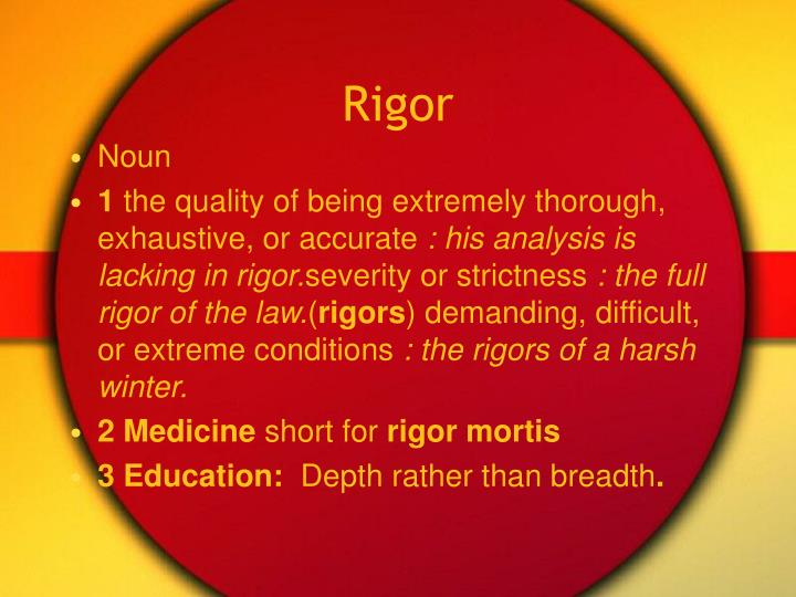 Rigor
