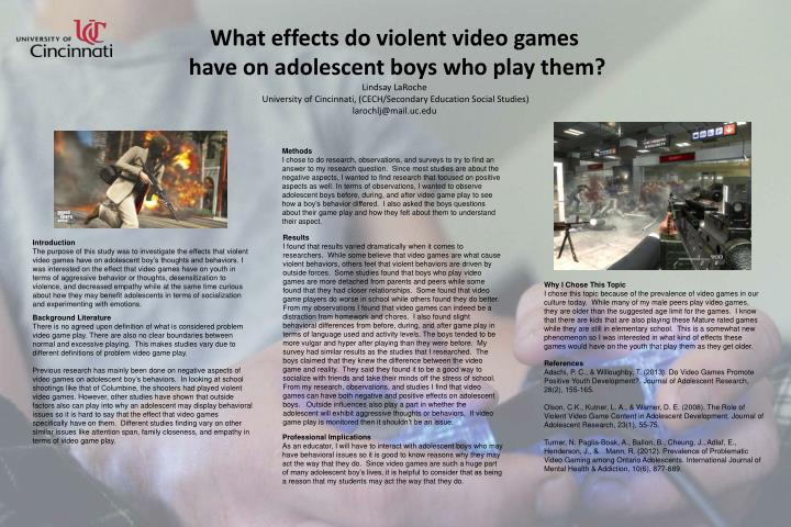 cause and effect essay on violent video games