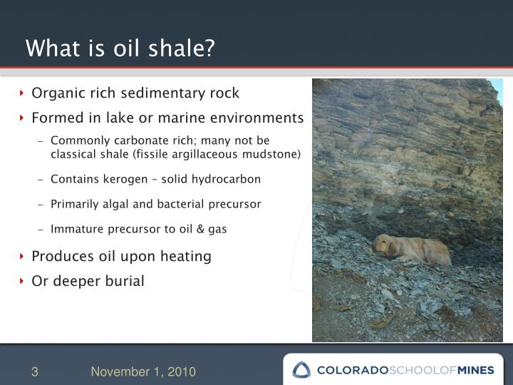 What is oil shale?