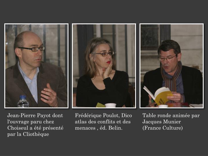 Jean-Pierre Payot dont l'ouvrage paru chez Choiseul a été présenté par la Cliothèque