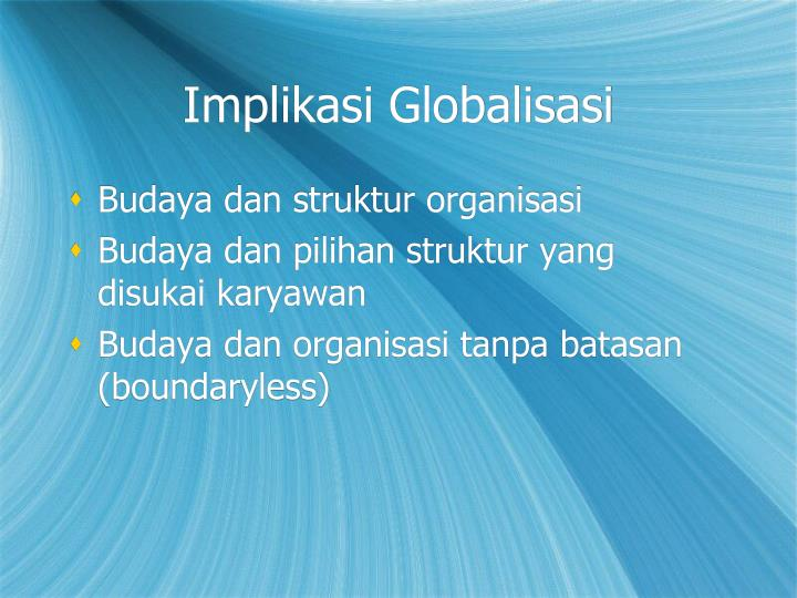 Implikasi Globalisasi