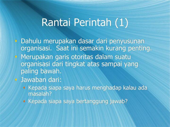 Rantai Perintah (1)