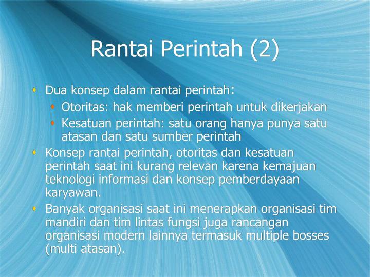 Rantai Perintah (2)