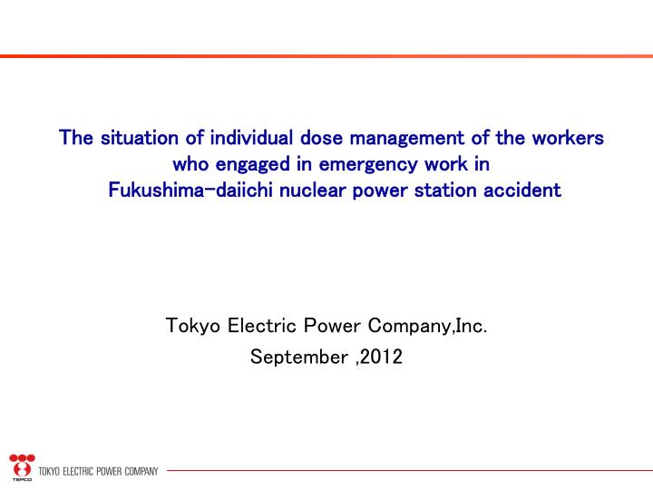 tokyo electric power company inc september 2012