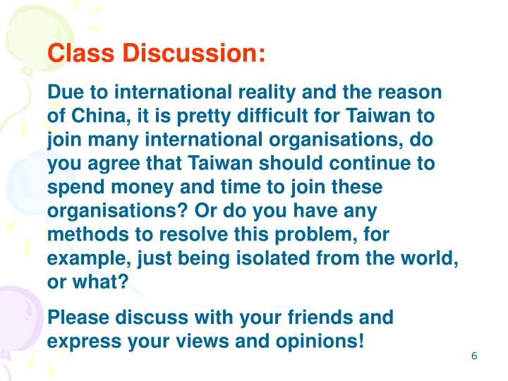 Class Discussion:
