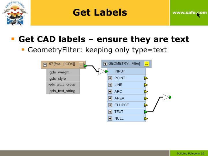 Get Labels