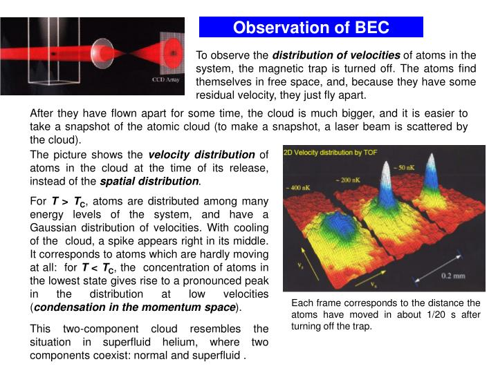 Observation of BEC