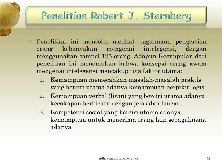 Penelitian Robert J. Sternberg
