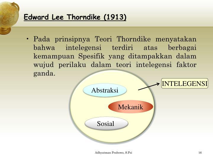 Edward Lee Thorndike (1913)