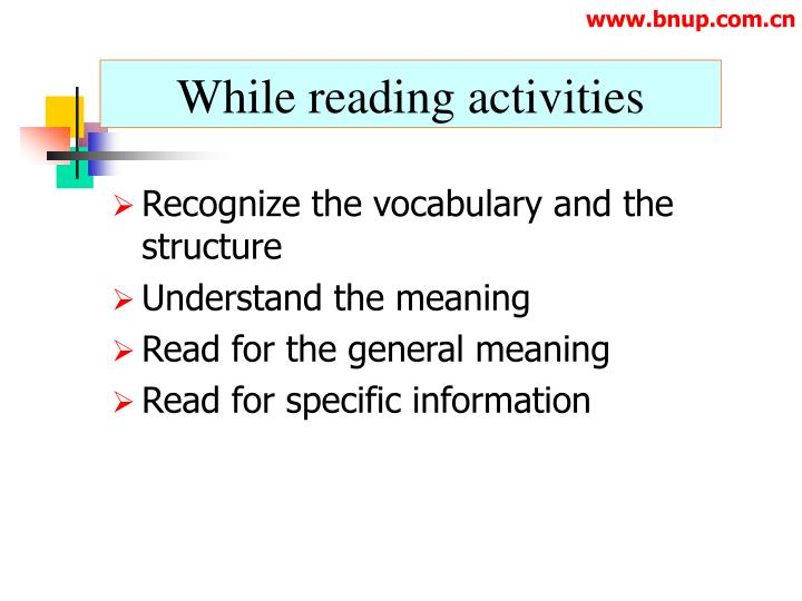 While reading activities