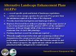 alternative landscape enhancement plans aleps1