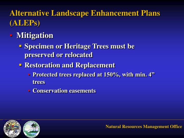 Alternative Landscape Enhancement Plans (ALEPs)