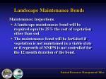 landscape maintenance bonds
