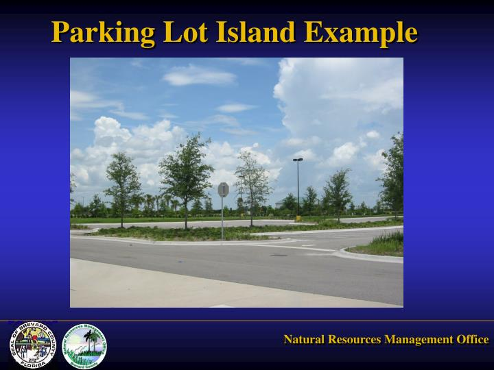 Parking Lot Island Example
