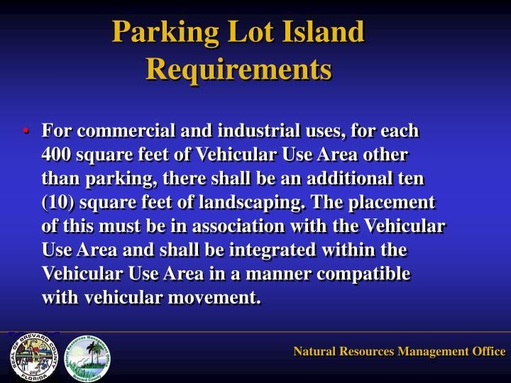 Parking Lot Island Requirements
