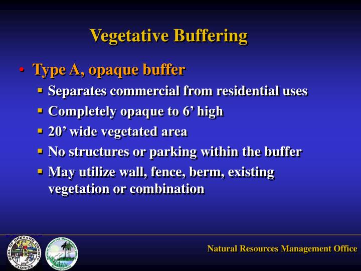 Vegetative Buffering