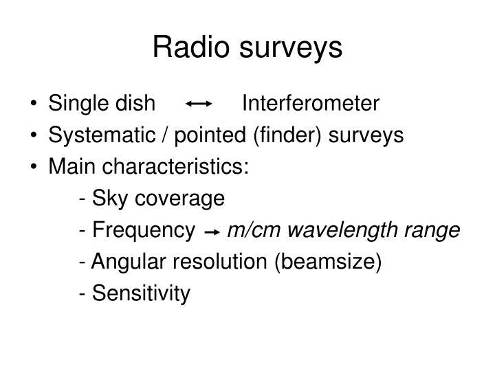 Radio surveys