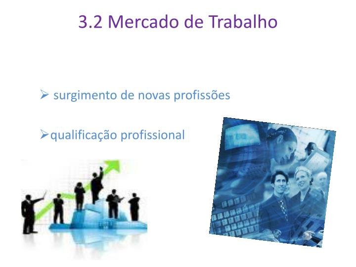 3.2 Mercado de Trabalho