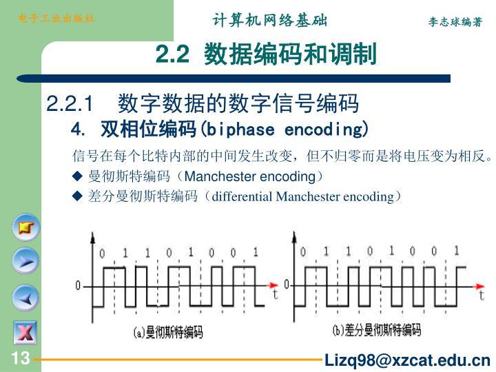 2.2.1 数字数据的数字信号编码