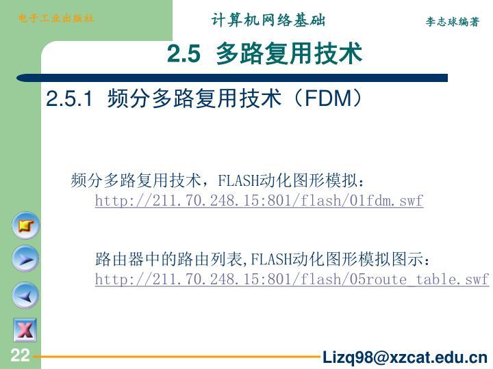 2.5.1  频分多路复用技术(