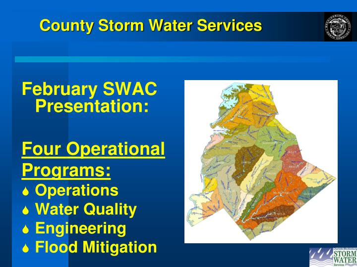 County storm water services
