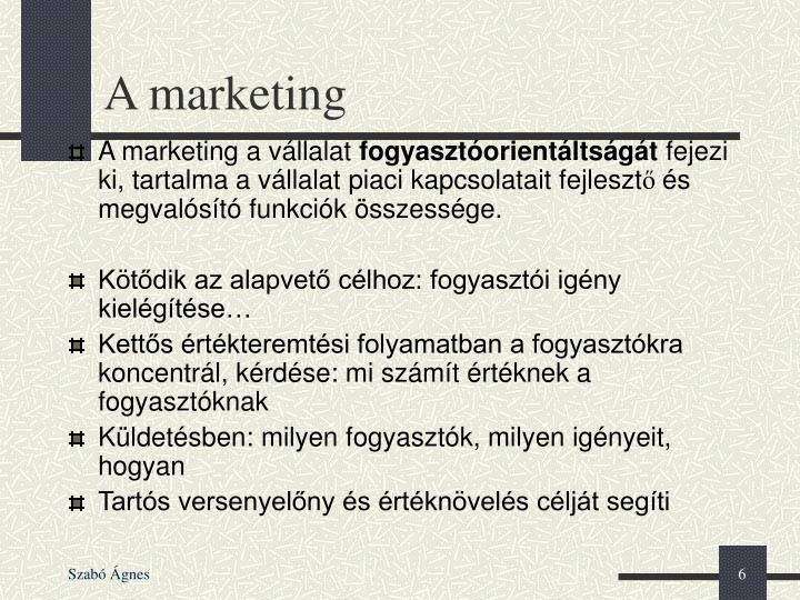 A marketing
