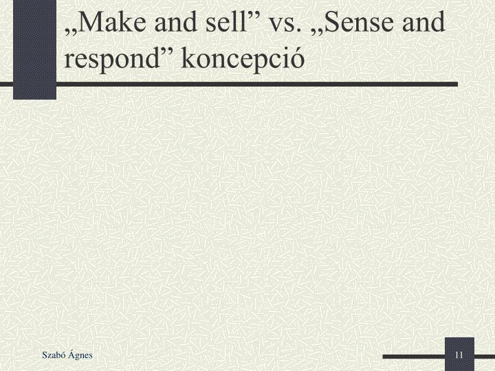 """Make and sell"" vs. ""Sense and respond"" koncepció"