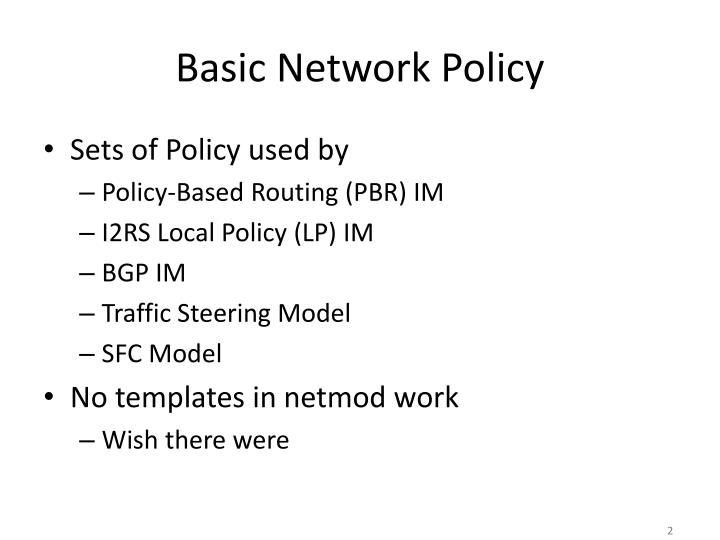 Basic network policy1