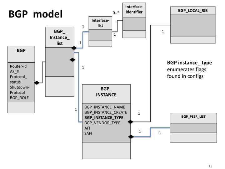 BGP  model