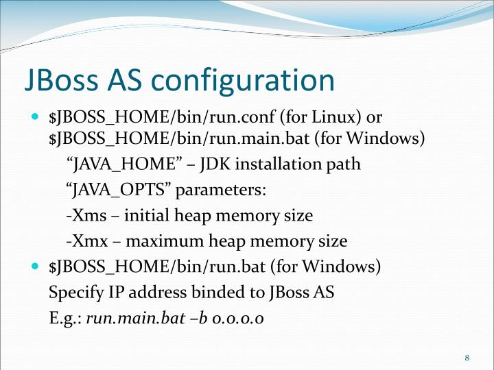 JBoss AS configuration