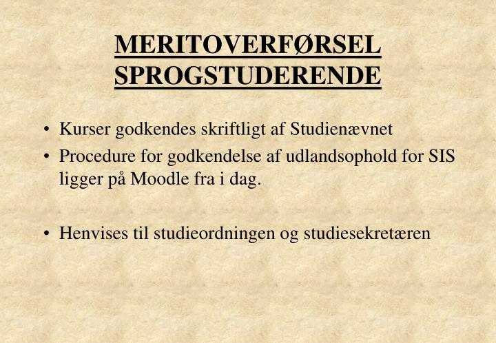 MERITOVERFØRSEL