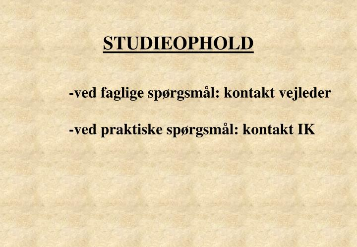 STUDIEOPHOLD