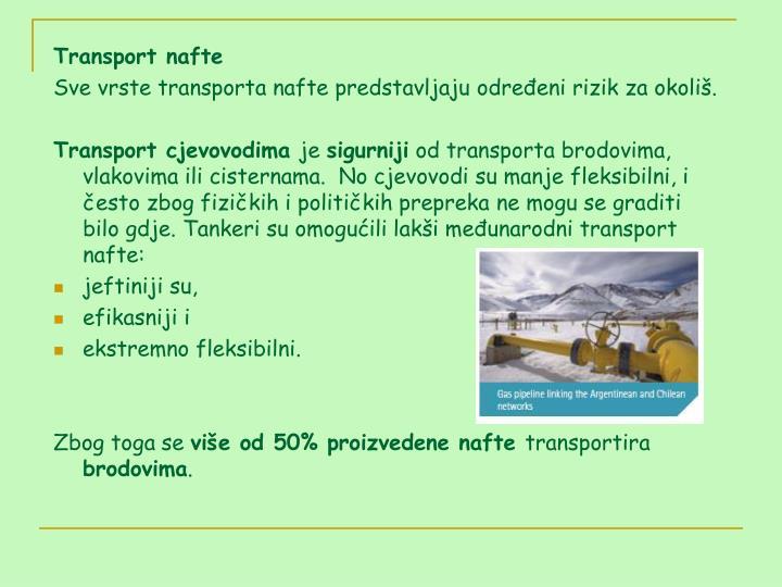 Transport nafte