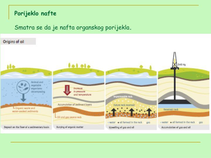 Porijeklo nafte