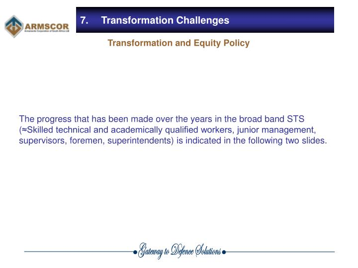7.	Transformation Challenges