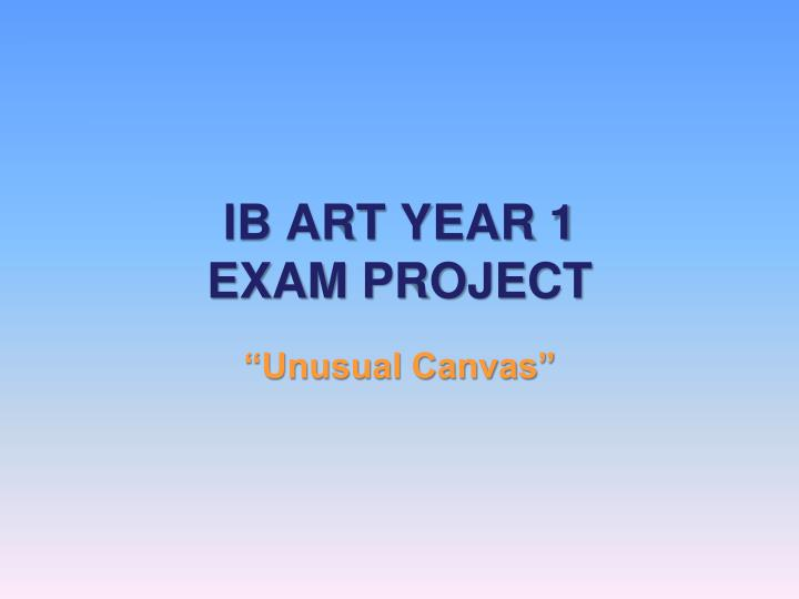 Ib art year 1 exam project