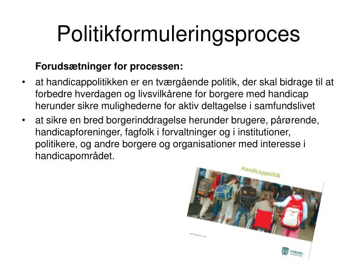 Politikformuleringsproces