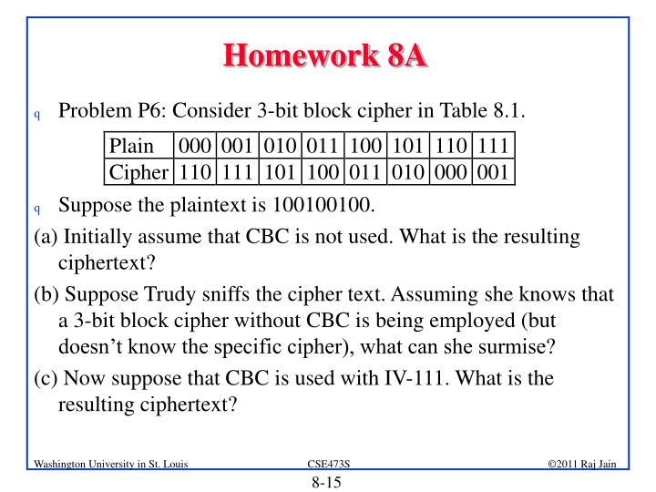 Homework 8A