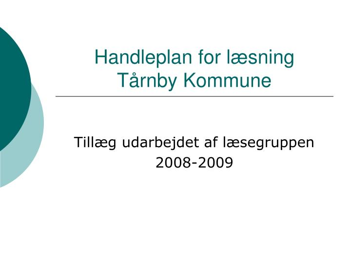 Handleplan for læsning