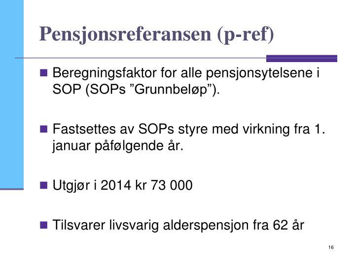 Pensjonsreferansen (p-ref)