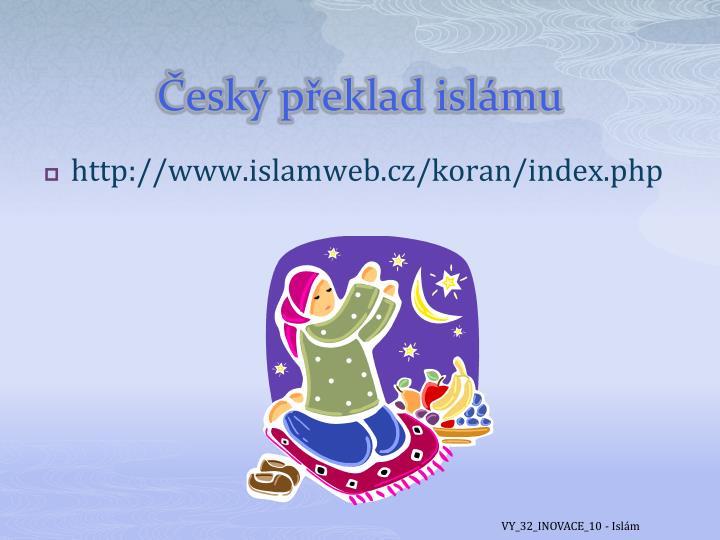 Český překlad islámu