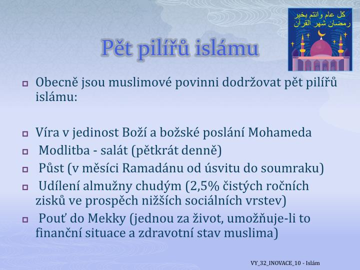 Pět pilířů islámu